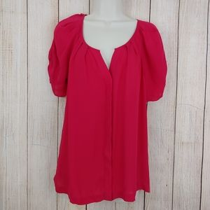 Joie red silk blouse
